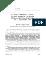 101 La Psiquiatria en La Ciudad Higiene Mental y Asistencia Extramanicomial en Espana en La Decada de 1920