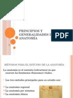 Tema #1 Principios y Generalidades de Anatomía