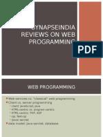 SynapseIndia Reviews on Web Programming