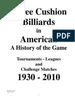 History of Billiards 1930-2010