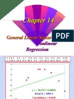 General Linear Square and Non Linear Regression