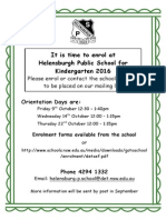 2016 Kinder Orientation