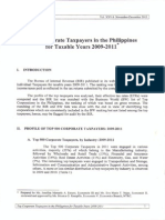 NTRC Top Corporate Taxpayers in the Phils. 2009 2011