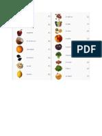 Fiche-les fruits et les legumes