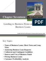 Chapter 17 (Lending to Business Firms and Pricing  Business Loans)