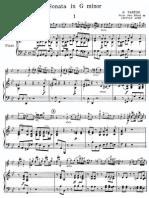 Tartini Violin Sonata Op 1 No 10 Score