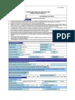 Form. 3360-010 Formulario Único de Postulación Convocatoria Pública