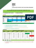 Calendário 2015 Segundo Semestre
