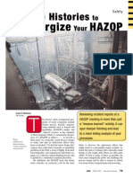 Use Case Histories to Energize Your HAZOP