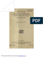 Indian Standard forMETHODS FOR GRADING AND CLASSIFICATION OF MUSCOVITE MICA BLOCKS, THINS AND FILMS