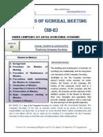 Secretarial Standard II- Minutes- Series 87