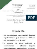 Seminário de Nanomateriais - Bruna e Iveth