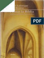 André LaCocque, Paul Ricoeur (2001). Pensar La Biblia. Estudios Exegéticos y Hermenéuticos. Barcelona, Herder.
