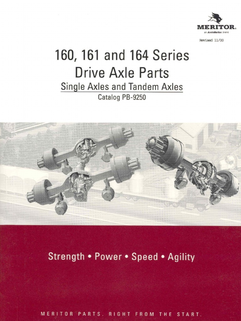 160 Drive Axle Meritor Diferenciales | Axle | Gear