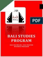 Curriculum Bali Studies