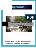 Survival Skills - The Most Effective Method to Discover Water in to the Wilderness