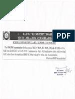 Exam Schedule of CEN 01-2015