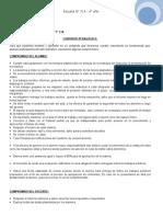 contrato de convivencia y diagnóstico 4°1° CN de 714 en Historia