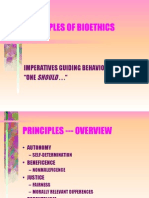 Principles of bioethics