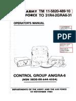 TM-11-5820-489-10 Control Group AN/GRA-6