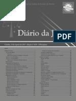 Diário Da Justiça Eletrônico - Data Da Veiculação - 14-08-2015