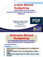 Outcome Based Budgeting in Malaysia