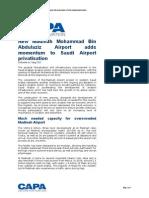 New Madinah Mohammad Bin Abdulaziz Airport Adds Momentum to Saudi Airport Privatisation