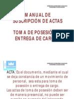 manuale actas de pesesion de cargo