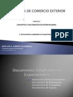 Semana 4 - Documentos Empleados en Exportaciones
