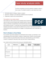 Case Study Analysis Skills