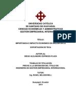 Importancia e Impacto Económico en La Exportación de Teca