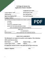 k&q employment application packet