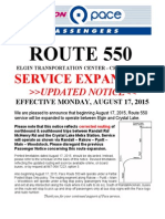 Route 550 Notice Revised