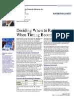 Deciding When to Retire