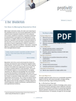 The Bulletin Vol 5 Issue 2 10 Keys Managing Reputation Risk Protiviti