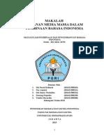 MAKALAH  PERANAN MEDIA MASSA DALAM PEMBINAAN BAHASA INDONESIA