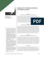 Impacto de La Exclusión Educativa en Ámbitos Sociales
