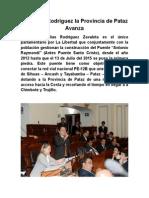 Con Elías Rodríguez La Provincia de Pataz Avanza