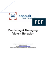 Predicting Violence Course