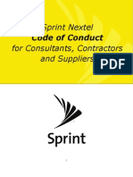 Sprint Principles Bus Conduct for Consultants Contractors Suppliers New