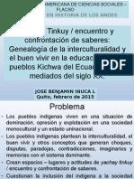 Tinkuy de Saberes en EIB Feb 2015