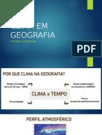 Clima Em Geografia