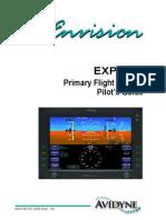 Avidyne Envision EXP5000 Primary Flight Display Pilot's Guide - Avidyne - AGO08