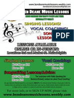 Ben Deane Music Lessons - Poster