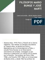 Filósofos Mario Bunge y José Martí. Diapositivas