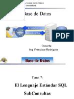 Sub Consultas SQL Server