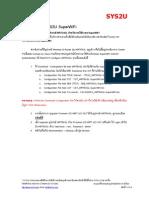 SYS2U SuperWiFi - Configuration