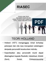 kaunseling dan kerjaya teori RIASEC (teori Holland)