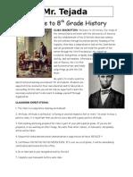 8th grade world history syllabus