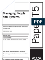 Managing People and Systems